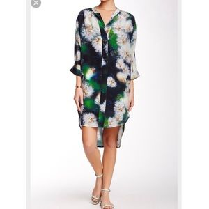 The Odell's printed hi lo silk dress